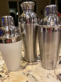 Three MARTINI Shakers