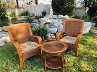 Indoor/ outdoor pier 1 imports In door or patio 2 chairs and matching table with cushions Thousand Oaks, 91320