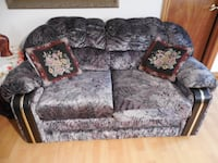 gray and white floral fabric 2-seat sofa Toronto