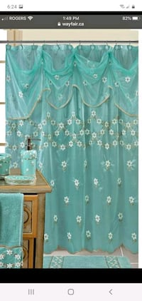 Brand new shower curtain only.