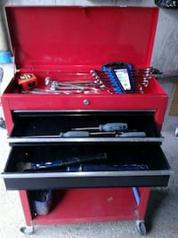 red and black tool chest Markham, L3T 5G1