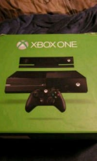 Xbox One console with controller and box