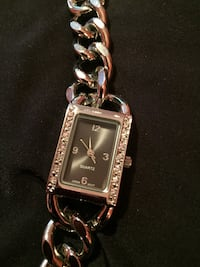 Bracelet watch with black face with crystals. Will fit small wrist Rockville, 20850