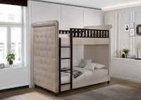Upholstered T/T Bunk Bed on SALE No Credit Needed Essex