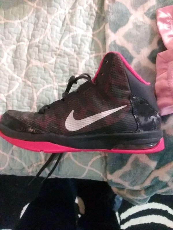 07973564b85e Used pair of black-and-pink Nike basketball shoes for sale in Acworth