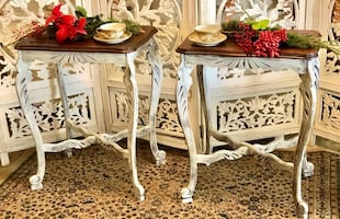 2 Rustic side tables - end tables - accent tables
