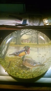 Knowles Wood Duck Collector Plate with Hanger Centreville, 20120