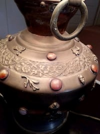 Copper lamp with Oriental markings marble inserts Tucson, 85716