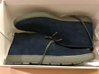 Mens Calvin Klein Nowles suede Oxford dark navy 7.5 US brand new