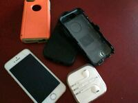 silver iPhone 5 with two cases and earbuds  Rome, 30165