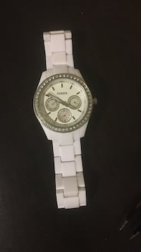 Fossil watch. White