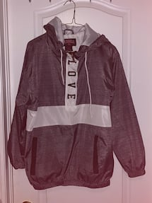 Large Women's LOVE windbreaker overhead jacket