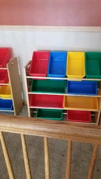 assorted color plastic toy organizer Yorkville, 60560