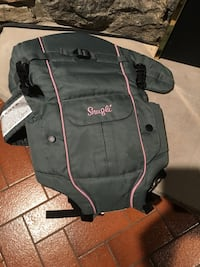 Gray and pink Snugli baby carrier by evenflo Toronto, M9V 2R2
