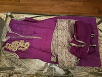 women's purple raw silk dress small size Milton, L9E 1E4