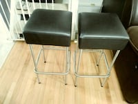 two black leather padded folding chairs Frederick, 21702