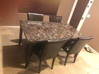Marble table with 4 chairs  Gilbert, 85295