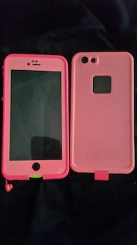 Pink and lime green iphone 6+/6s+ lifeproof