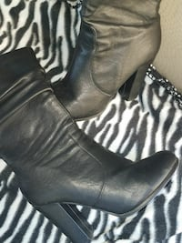 Women's black heels boots winter
