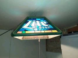 75.00 for stained glass lite beer lantern