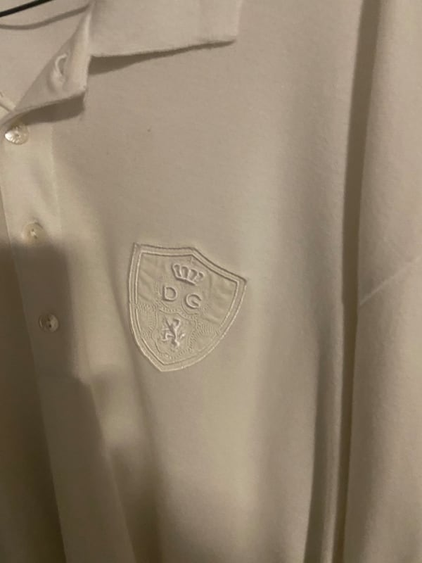 Dolce and Gabbana White Polo Long Sleeve 2