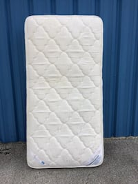 Twin Size Mattress ( Used / Both Side Hard Firm Polyester )