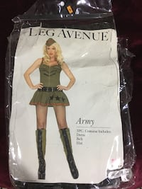 Army Lady Halloween Costume SMALL Mississauga, L5B 3Y7