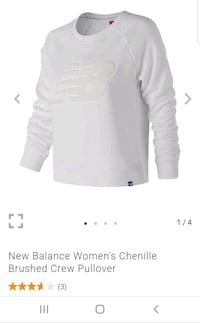 Small and XL New Balance Women's Crew Pullover