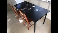 Kitchen or dining Ikea black table. $20.