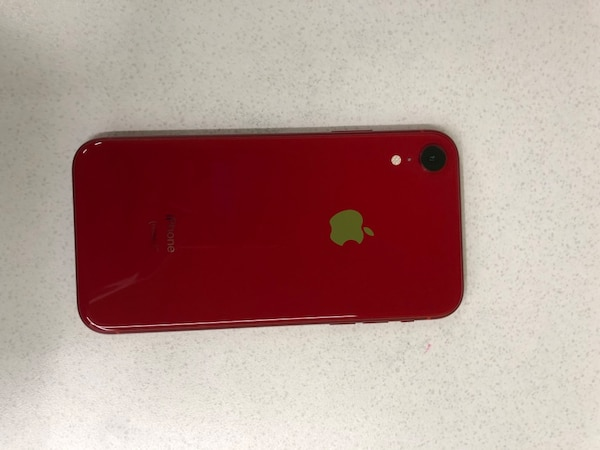 red iPhone 7 plus with case