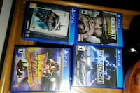 four assorted PS4 game cases Winnipeg, R2M 4H3