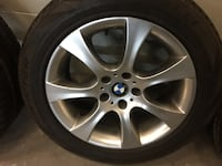 4 winter tires and original rims X5 bmw tires size 245/50/r18 Toronto, M9W 6T5