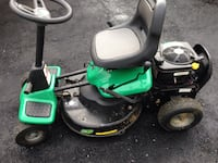 Green and black ride on lawnmower Humber Arm South, A0L