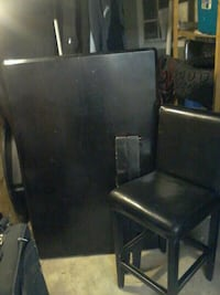 black leather table chairs Vernon, V1T 4Z5