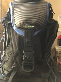 black and gray leather backpack Fresno, 93720