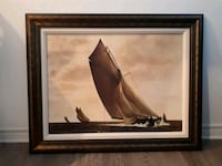 brown wooden framed painting of brown wooden horse Gatineau, J8R 1A2