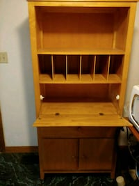 brown wooden desk with hutch Nashua, 03062