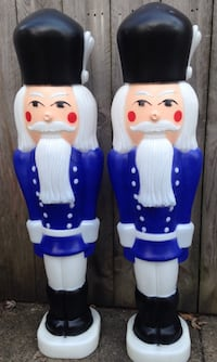 Christmas Holiday NUTCRACKER SOLDIER Blow mold lights