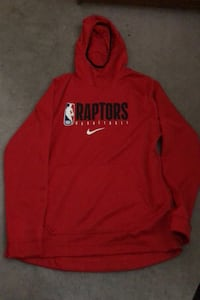 2 Brand new both red raptors sz large and small hoodies