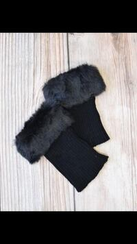 BLACK FAUX FUR BOOT TOPPERS Laval, H7P 1Z7