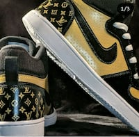 Black and Gold Louis Vuitton Nike's 5.5  Toronto
