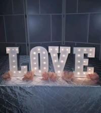 Marquee Letters (1ft tall) $25 each letter RENTAL  Vaughan