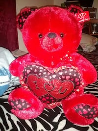 Red teddy bear with voice box