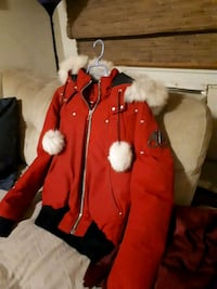 red and white zip-up parka jacket Toronto, M6N 4Y4