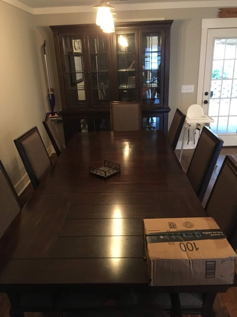 Photo Dining Room Table, Chairs, and China Cabinet