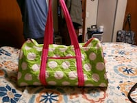 green and white floral tote bag Clinton, 28328