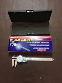 """6"""" Dial Caliper New unused in padded case A useful precision tool"""