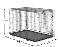 Brand new in box XXL dog crate 48 inch long crate.