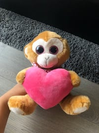 NEW Plush Monkey with Heart Markham, L6B 1N4