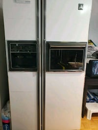 white side-by-side refrigerator with dispenser Toronto, M4C 5L7